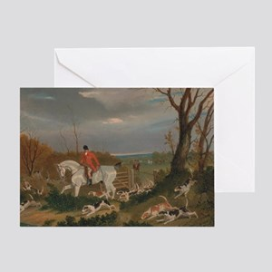 The Suffolk Hunt - John Frederick Greeting Card